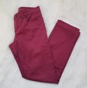 🛒Liverpool Jeans Company Burgundy Red Skinny Pant